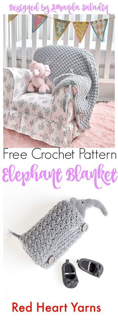 Elephant Blanket - Free Crochet Pattern | Mantas y alfombras tejidas ...