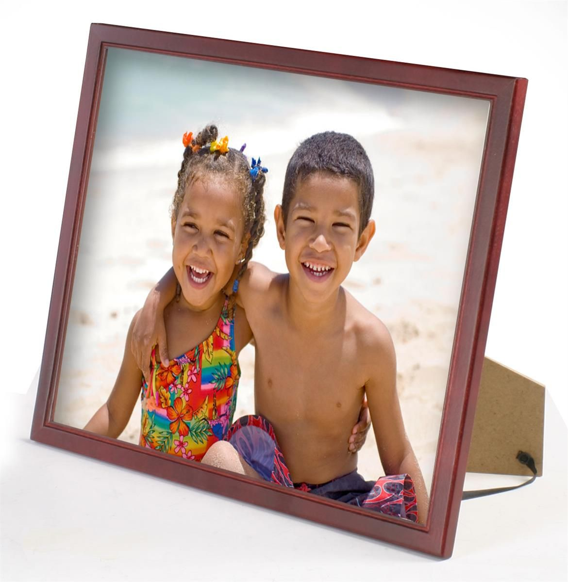 10 5 X 13 Wood Picture Frame For Table Or Wall Matted To 8 5 X 11 Mahogany Wood Picture Frames Picture Frames Picture On Wood