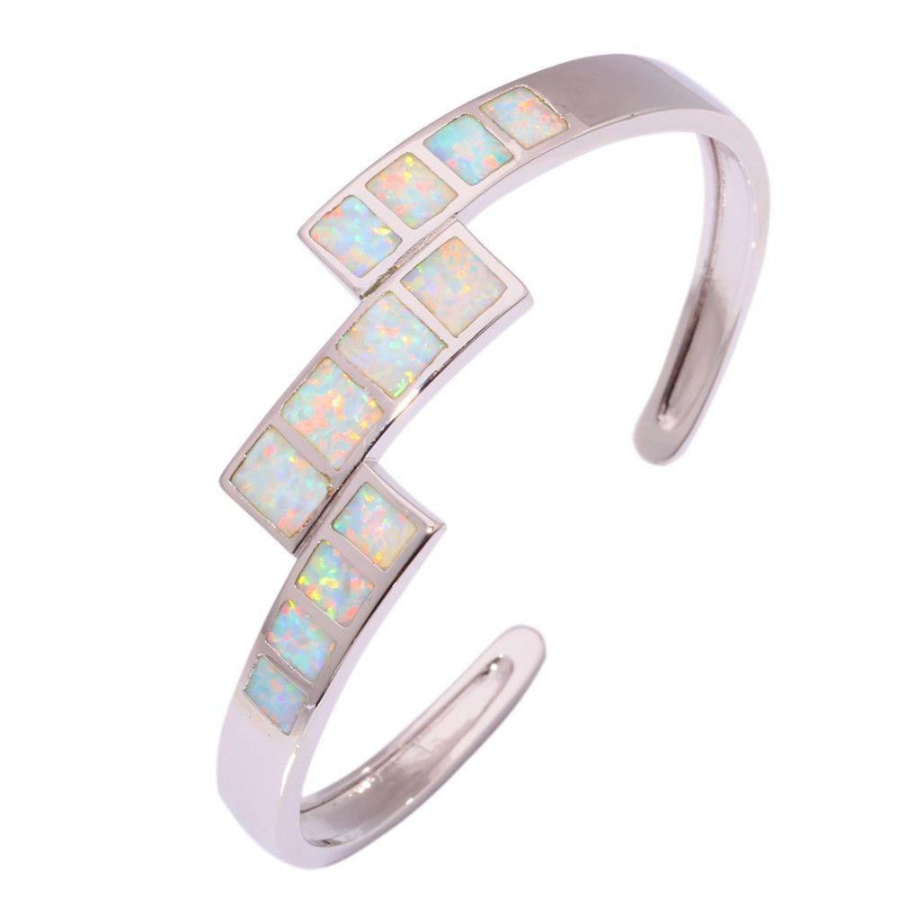 White fire opal silver bracelet wholesale retail new style for women