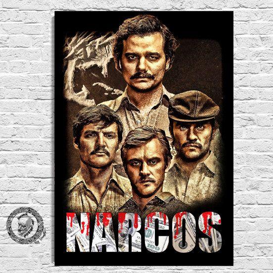 NARCOS Pablo Escobar Poster Cm 33x48 Formato A3+ Plata O