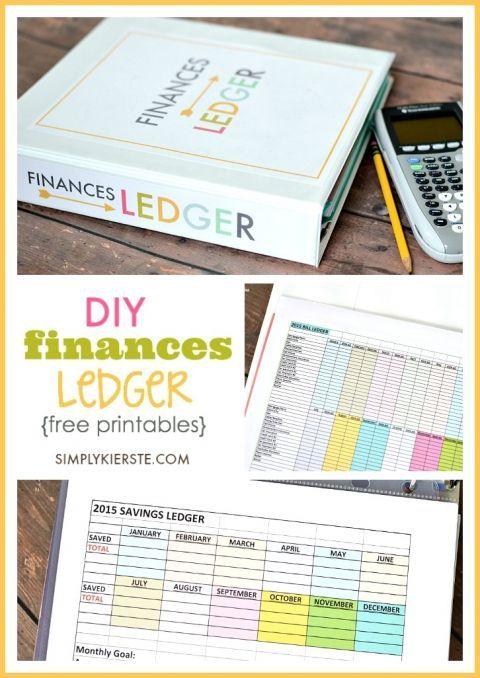 DIY Finances Ledger Free printables, Money management and Planners