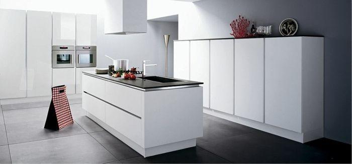 Die Insel in der modernen Küche bietet mehr Stauraum Küche - moderne dunstabzugshauben küche