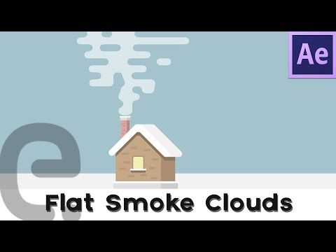 Flat 2D Smoke Clouds   Motion Graphics After Effects
