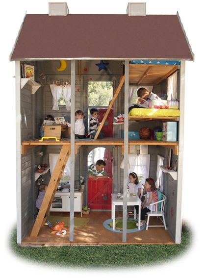 Casita de jard n para ni os de madera villa orleans casita de jardin pinterest casas de - Casa de madera infantil ...