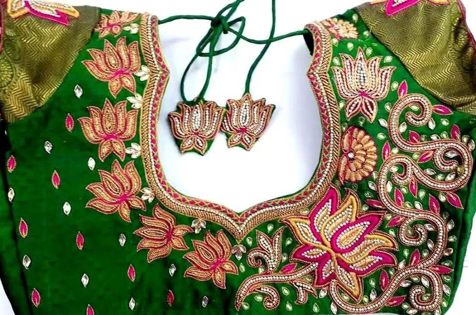 South Indian Wedding Blouse Neck Designs 5