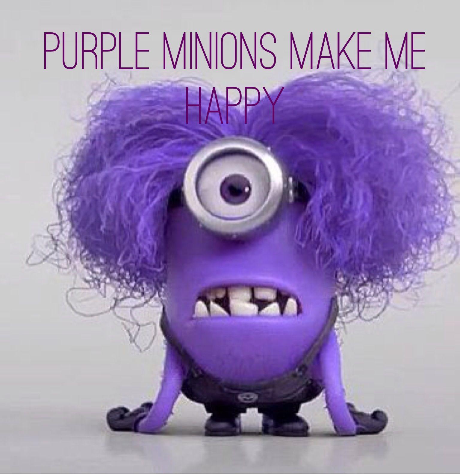 Purple Minion Memes Funny: Purple Minions Make Me Happy