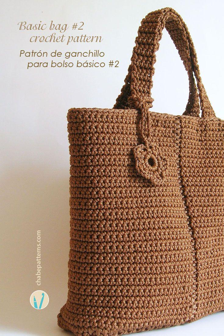 Basic bag pattern #2/ Patrón para bolso básico #2 pattern by Maria ...