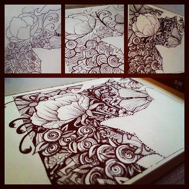 Ohayou! Step-by-step. Sort of. My epic artblock vanquisher! Lol  #doodle #doodleart #drawing #pen #uniPIN #uni #BandW  #bnginksociety #ink #flora #catart #catsofinstagram #imaginariart #imaginationarts #instaart #instartist_ #theartshed #artFido #arts_help #artcollective #art_quality #creative_instaarts #artofdrawing #spotlightonartists #Art_Spotlight #artmagazine #artsanity #arts_gallery