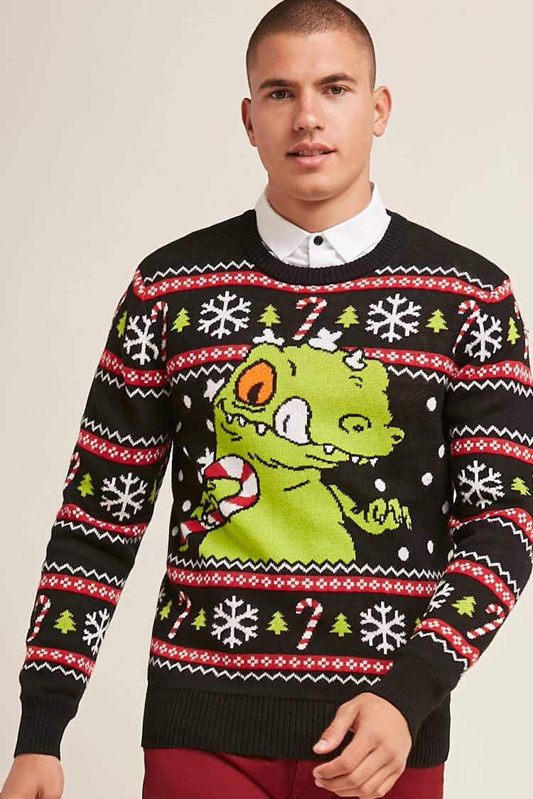 9b170670a8 Reptar Holiday Sweater | Styling at Forever21 | Christmas sweaters ...