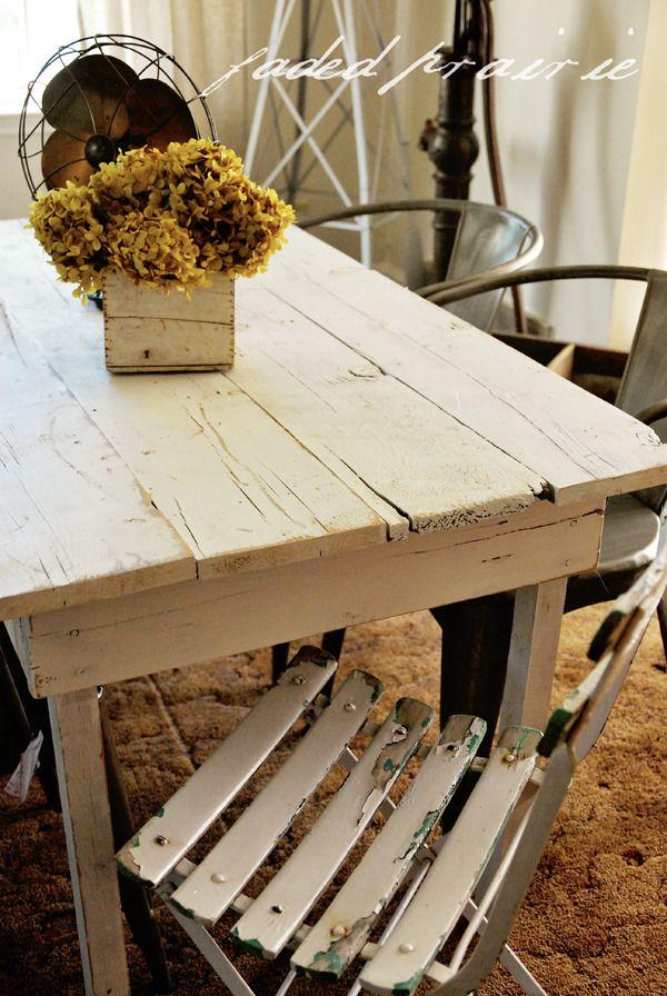 Farmhouse tables~go with any decor...yes