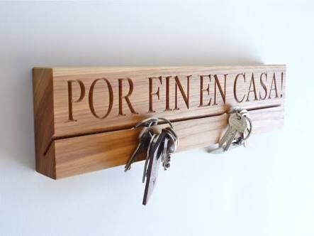 Resultado de imagen para base para porta llaves en mdf madera pinterest casa de madera - Porta llaves pared ...