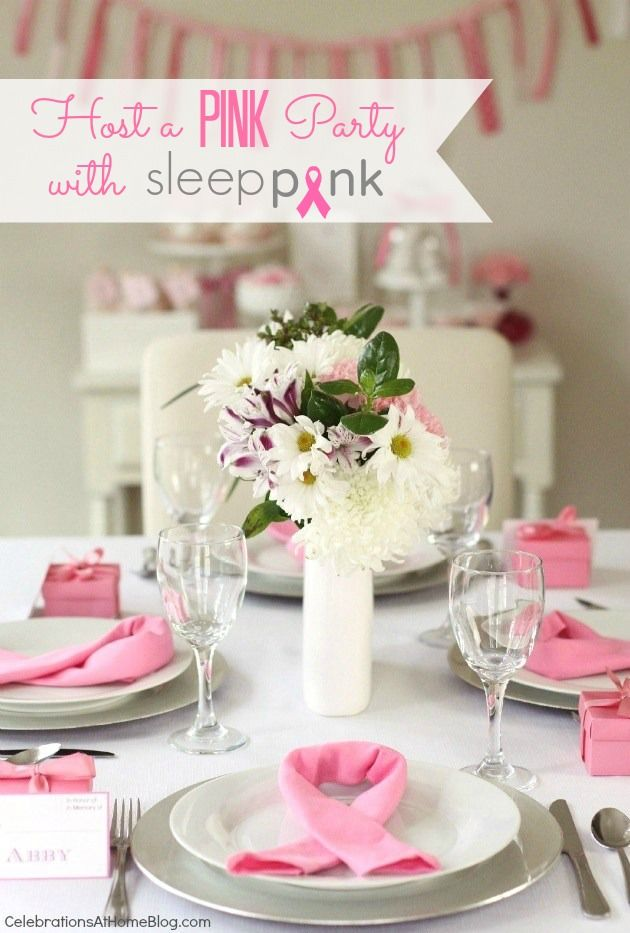 Host A Pink Party For T Cancer Awareness
