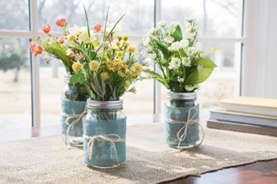 Floral Mason Jars Flower Arrangements Mason Jar Vases Mason Jars