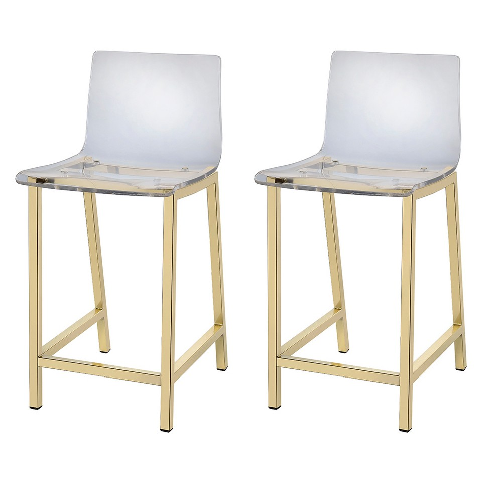 Counter And Bar Stools Fox Hill Trading Light Gold Clear
