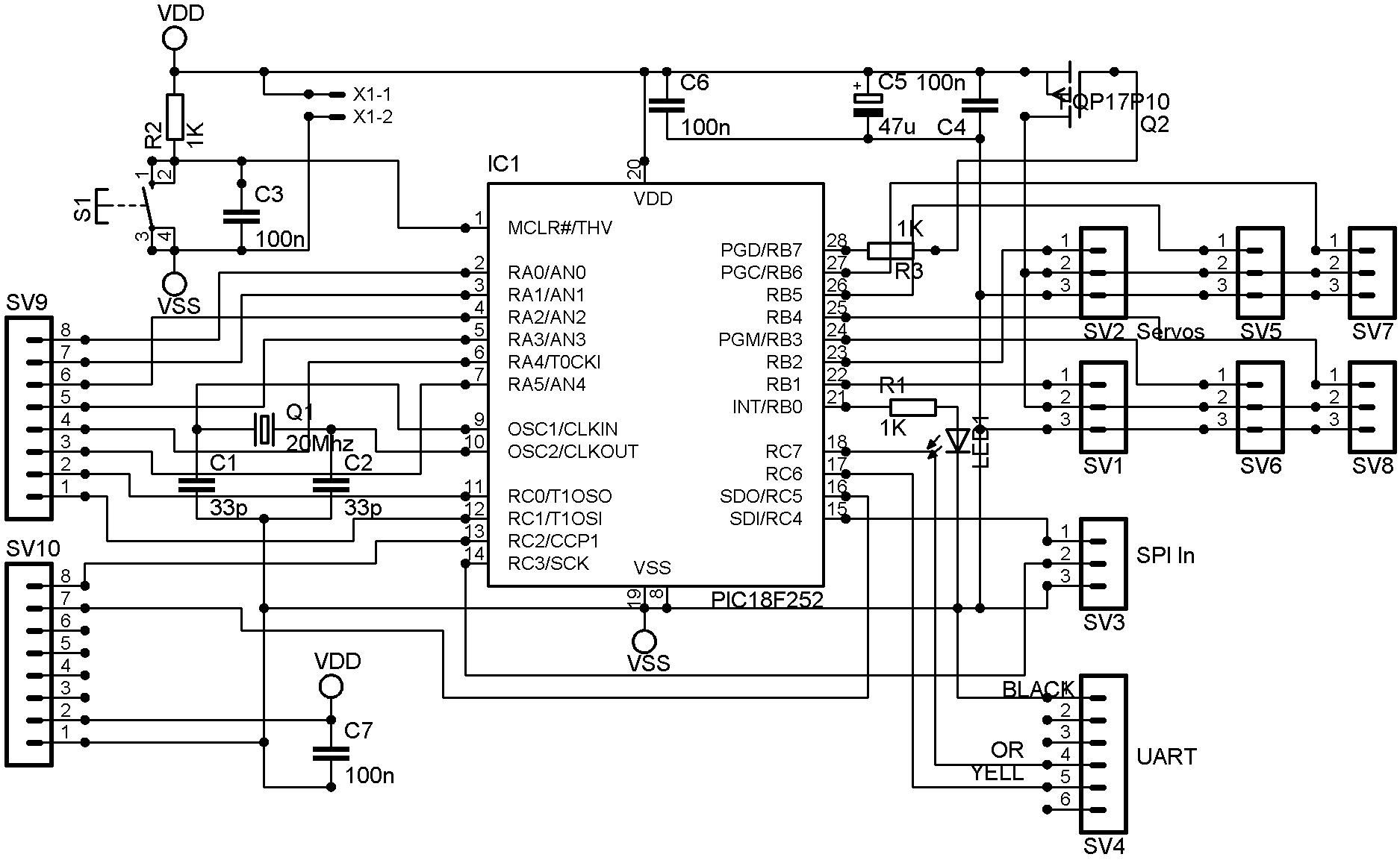 Schematic Of Servo Controller
