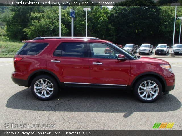 Red 2014 Ford Explorer Ruby Red 2014 Ford Explorer Limited 4wd