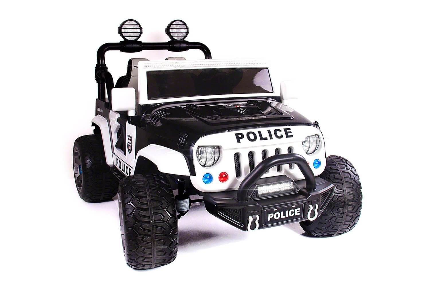 Kids Police Truck Explorer 12V RideOn SUV TwoSeater with