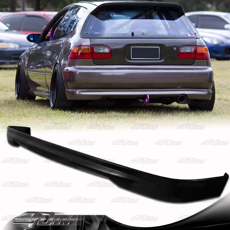 Type R Style Polyurethane Rear Bumper Lip Wing For 9295 Honda