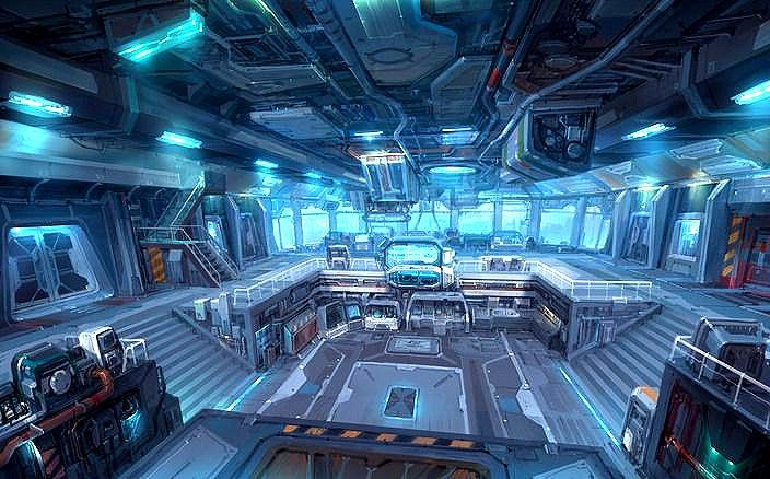 Pin do a celso soares em spaceship interior pinterest for Interior nave espacial