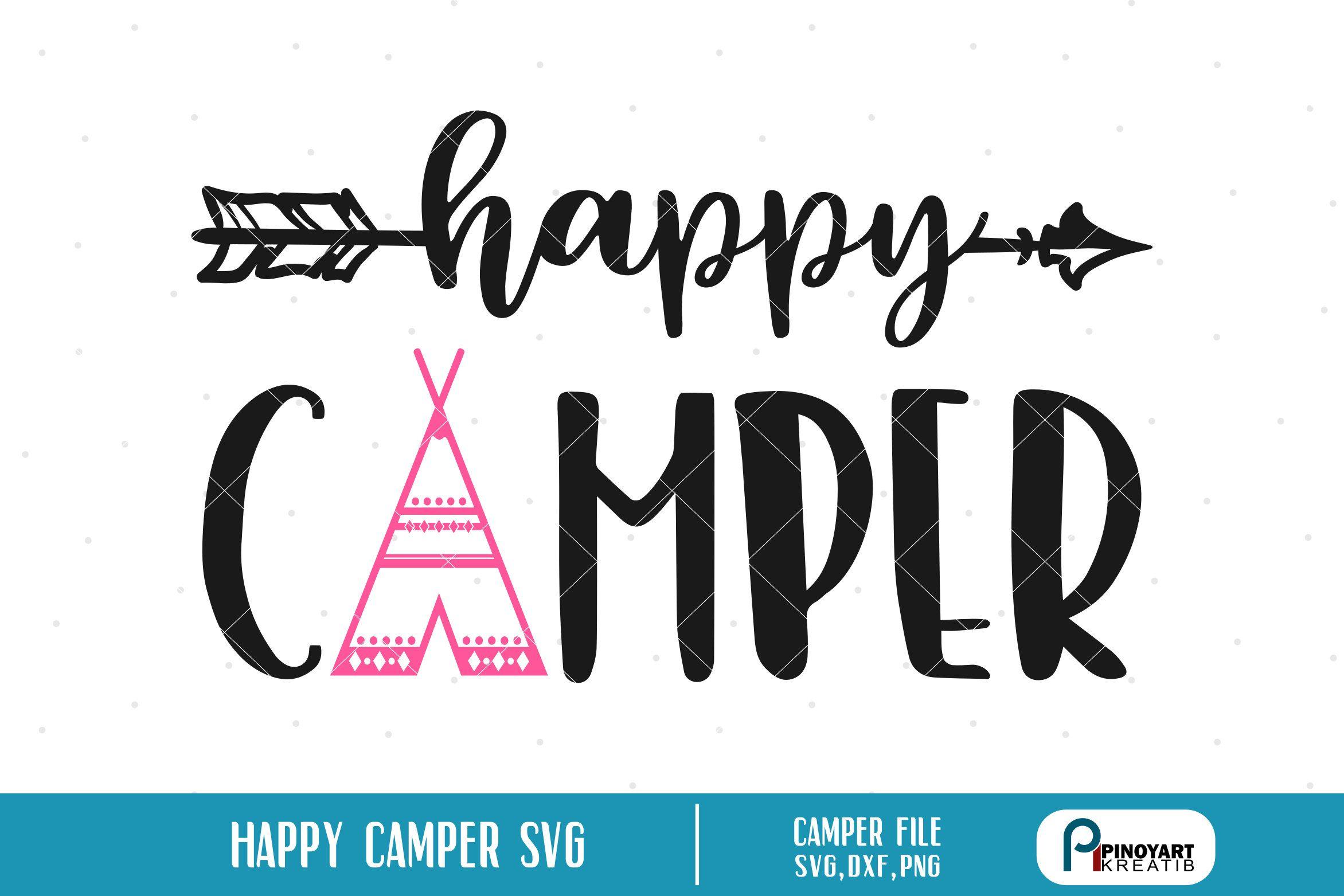 Happy camper svg, happy camper svg file, camper svg