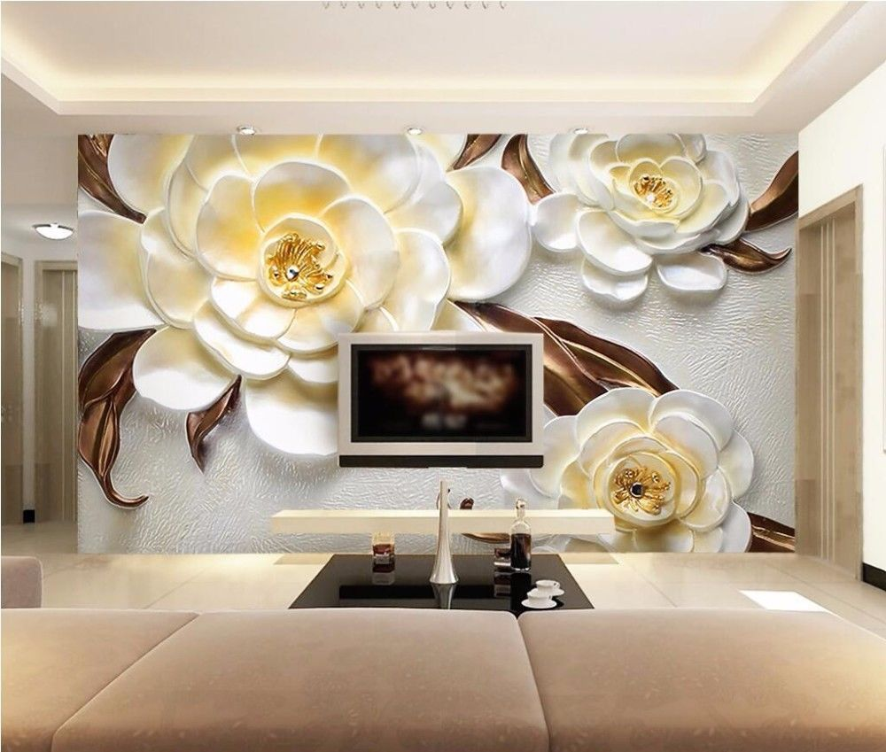 Custom Photo Wallpaper For Walls 3 D Yellow Rose Large Mural Wall Paper Bedroom Unbranded Artnouveau Parede 3d Papel De Parede 3d Papeis De Parede