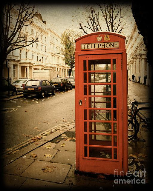 London Telephone Booth Telephone Booth London England Vintage