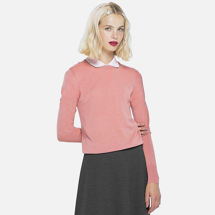 be8161b4d7 Women extra fine merino crewneck sweater