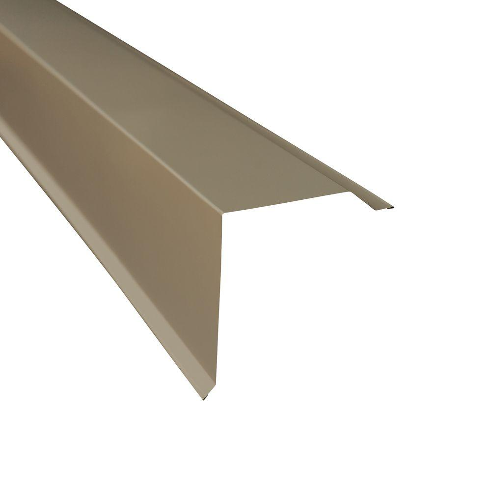 Metal Sales Gable Trim In Charcoal 4206017 The Home Depot In 2020 Gable Trim Roof Edge Metal Roof