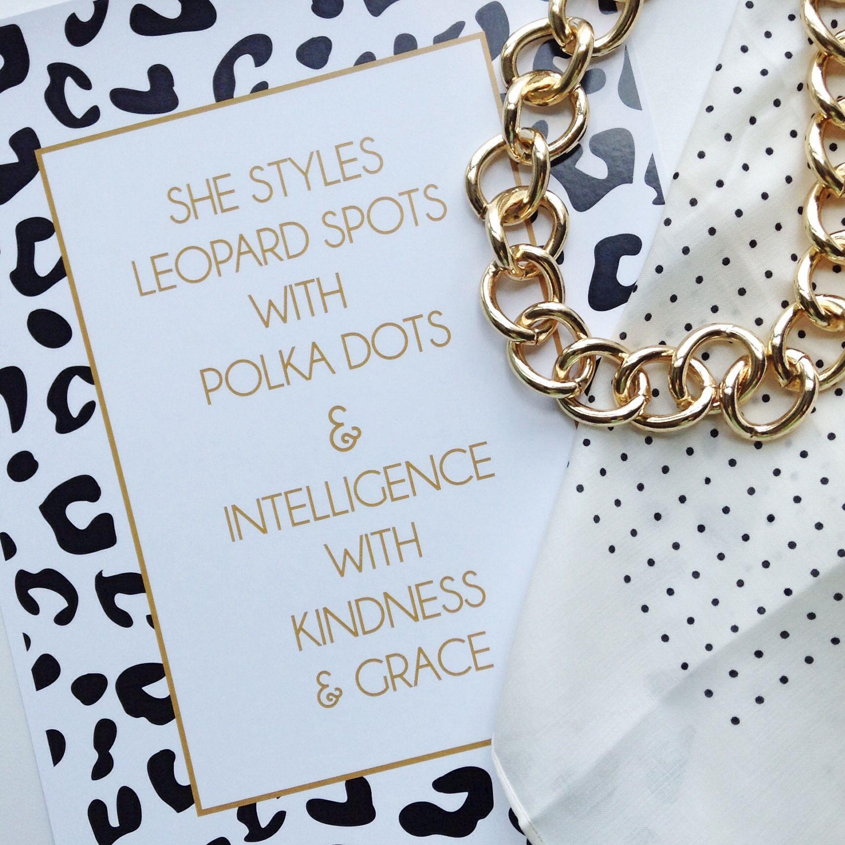 Amanda Catherine Designs 'Leopard Spots with Polka Dots' print