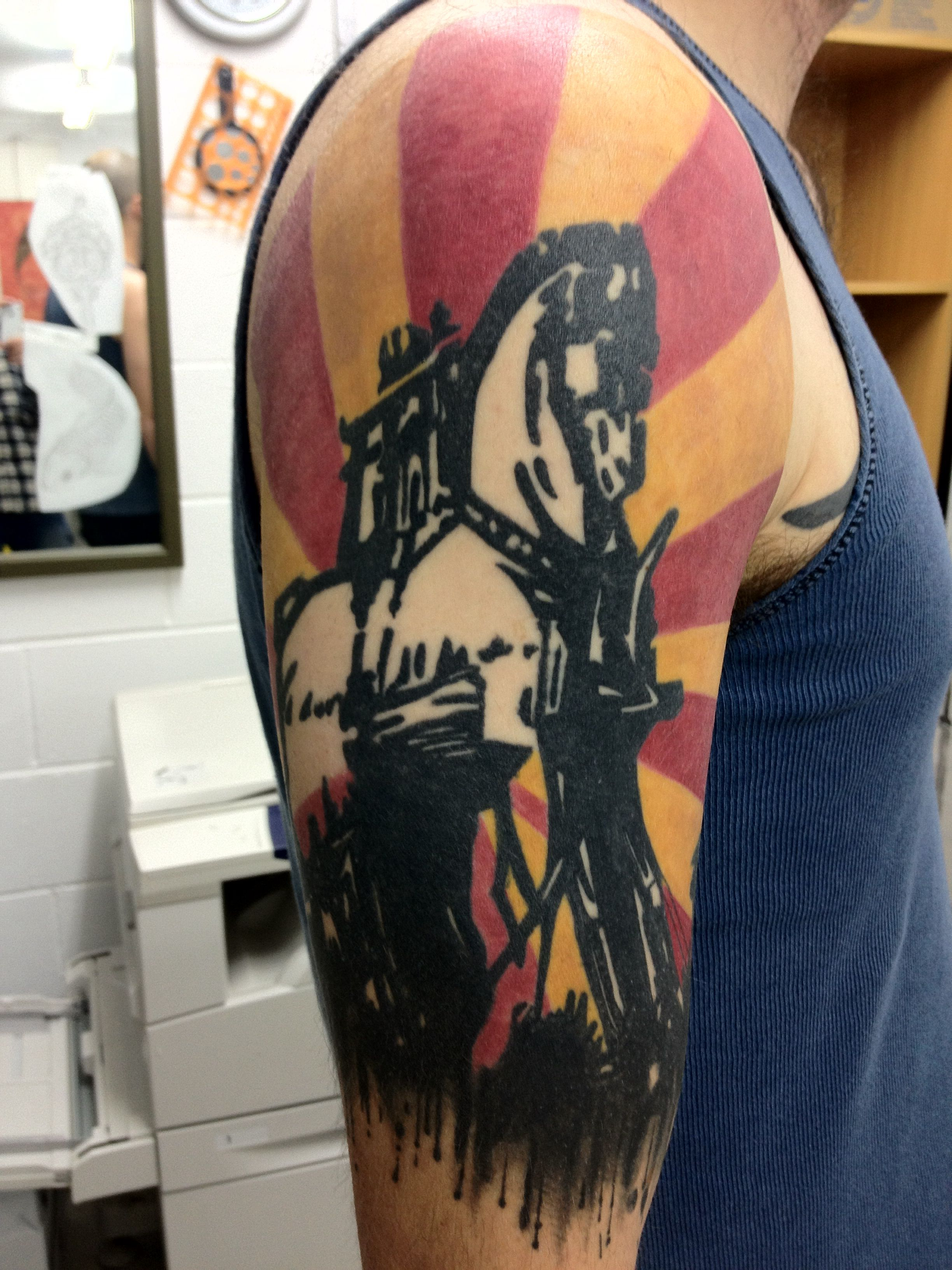 9c2b65e0f At the drive-in   Tattoos by me   Tattoos, Art, Design