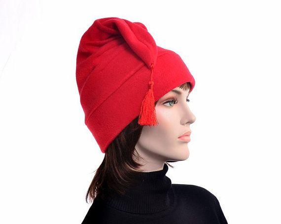 Red Phrygian Cap Hat Liberty Cap Fleece Mens Hat by MountainGoth ... 51914c34e89a