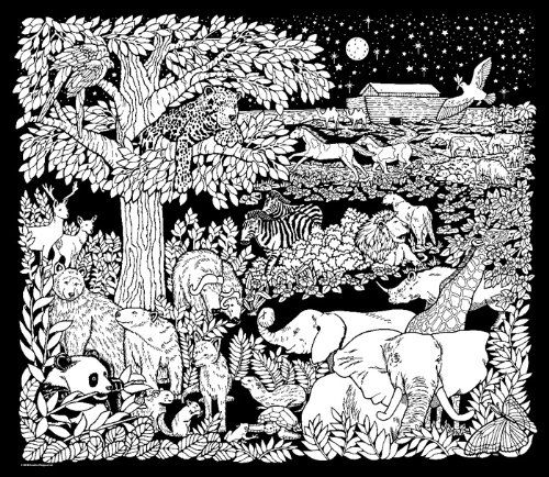 image detail for coloring page noahs night sky fuzzy velvet coloring poster on