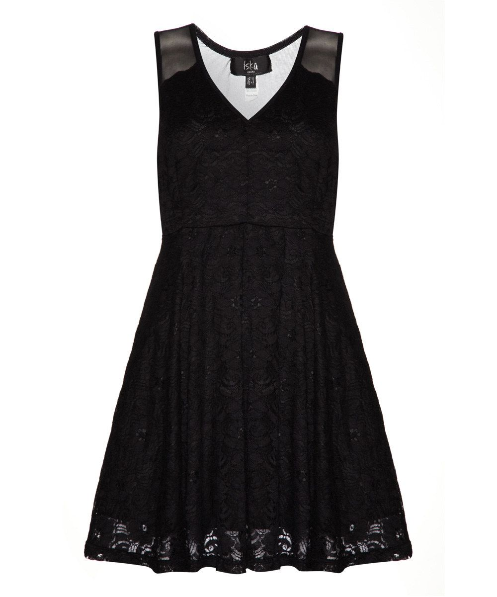 14f96b8da8 Look at this Black Lace Overlay A-Line Dress on #zulily today ...