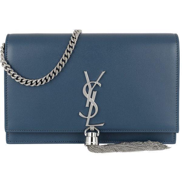 e191c31f9605 Saint Laurent Shoulder Bag - Kate Chain Tassel Wallet Leather Denim -... (