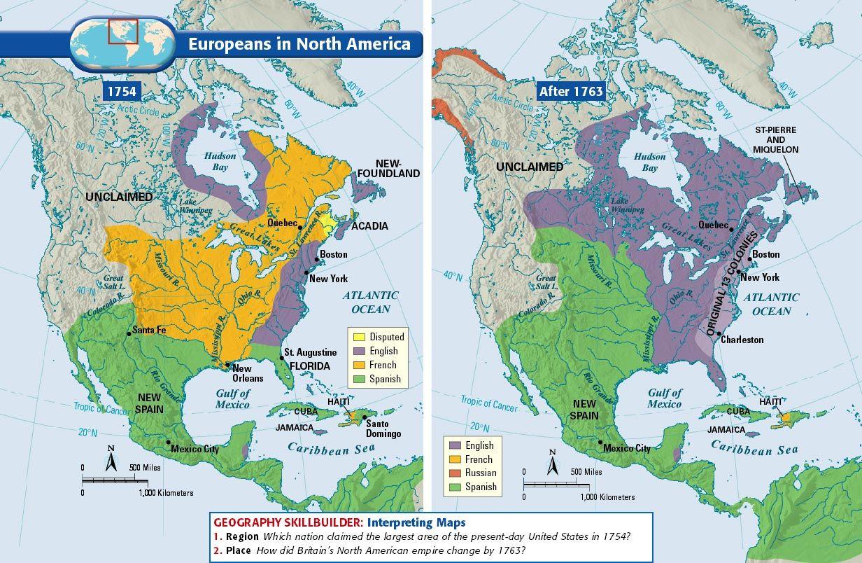 Image Gallery North America - Map of north america 1700