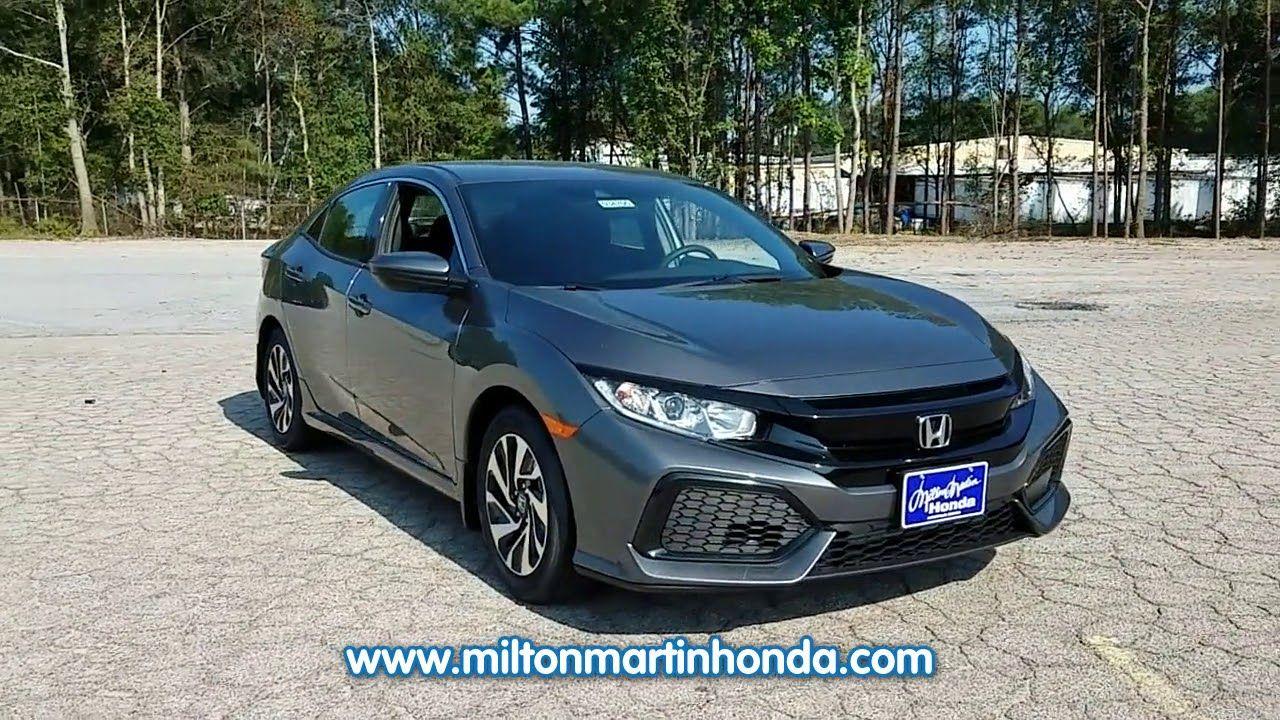 New 2017 Honda Civic Hatchback Lx Cvt W Honda Sensing At Milton Martin Honda New 34705 Bmw Car Honda Bmw