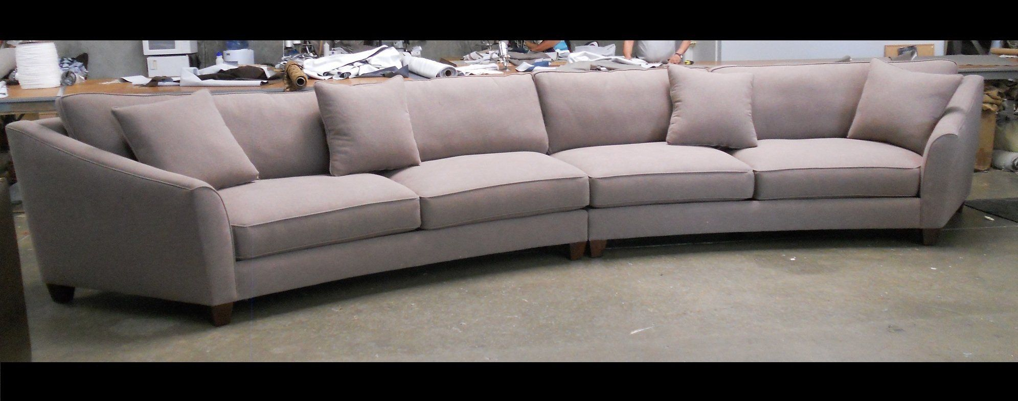 Curved Sectional Sofa Set - Rich Comfortable Upholstered ...