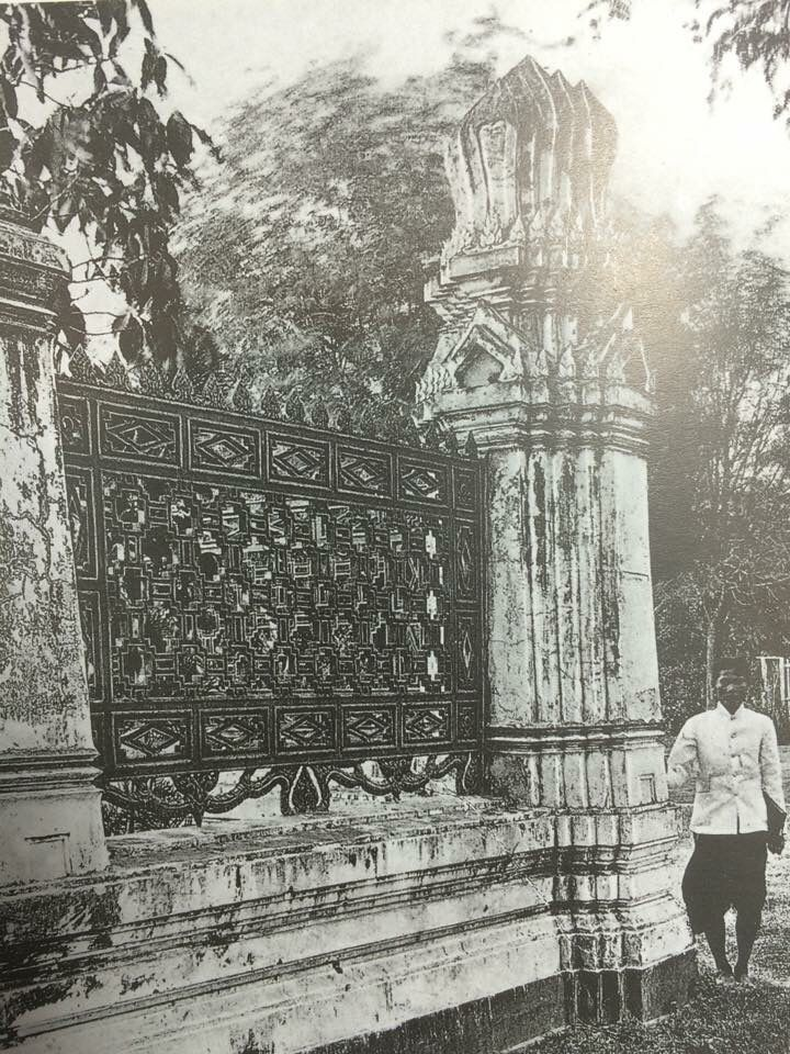 Fence design at Bangkok royal temple in 1900 #Siam