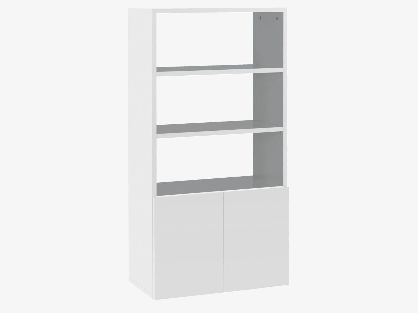 Kubrik Whites High Gloss White Short Shelving Unit Habitatuk Roomdividerbookshelves