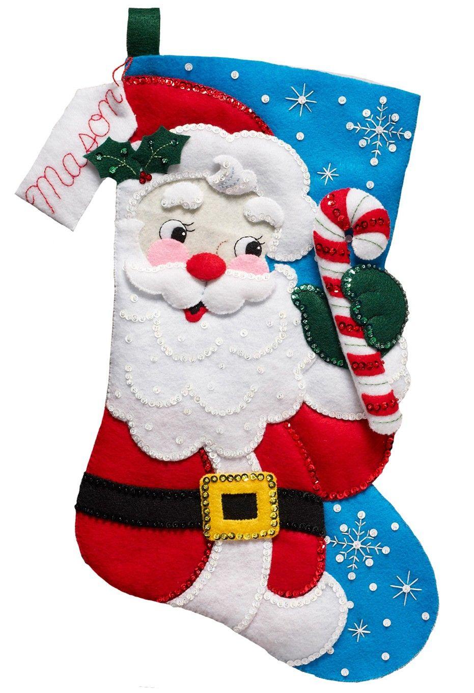 Encantador Patrones De Costura De Papa Noel Componente - Manta de ...
