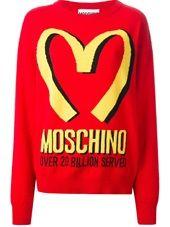 Moschino - Suéter vermelho e amarelo