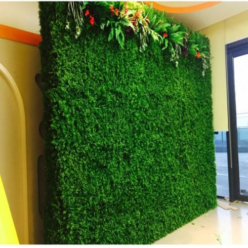 11 sq ft 4 panels artificial boxwood hedge small leaves on interior using artificial boxwood panels with flowers id=87248
