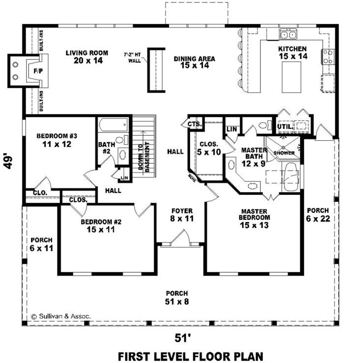 House Plan 3194 - Country 3 bedroom 2 bath 1800 Sq Ft Design ...