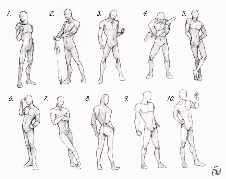 How to draw a male body google search