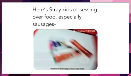 Here S Stray Kids Obsessing Over Food Especially Sausages Crazy Kids Stray Kid Memes