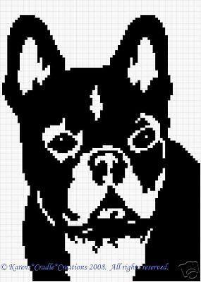 Crochet Pattern Patterns French Bulldog Graph Pattern Ebay