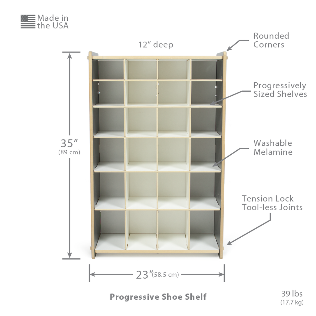 Shelving For Shoes Sizes