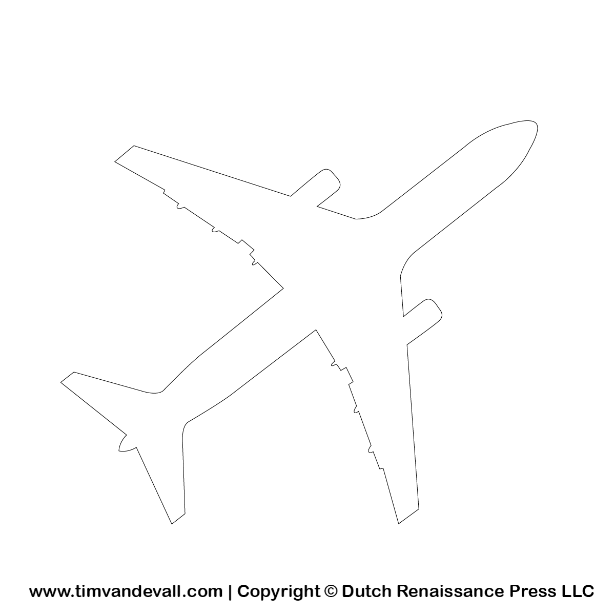 Airplane Outline Template  Tattoos    Airplanes