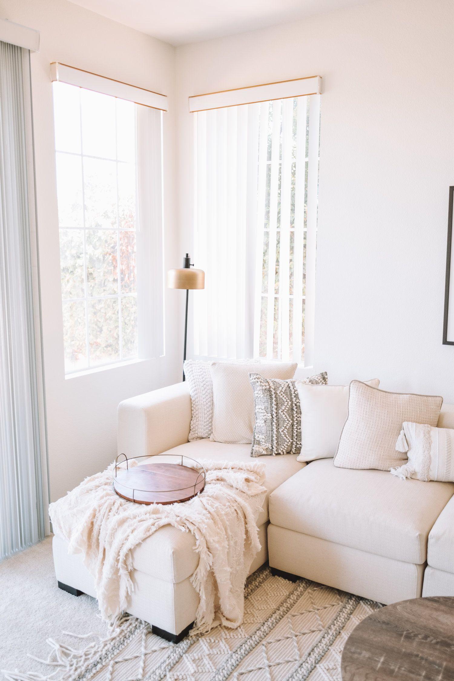 Gorgeous Family Room Inspiration - Ivory White Neutrals ...