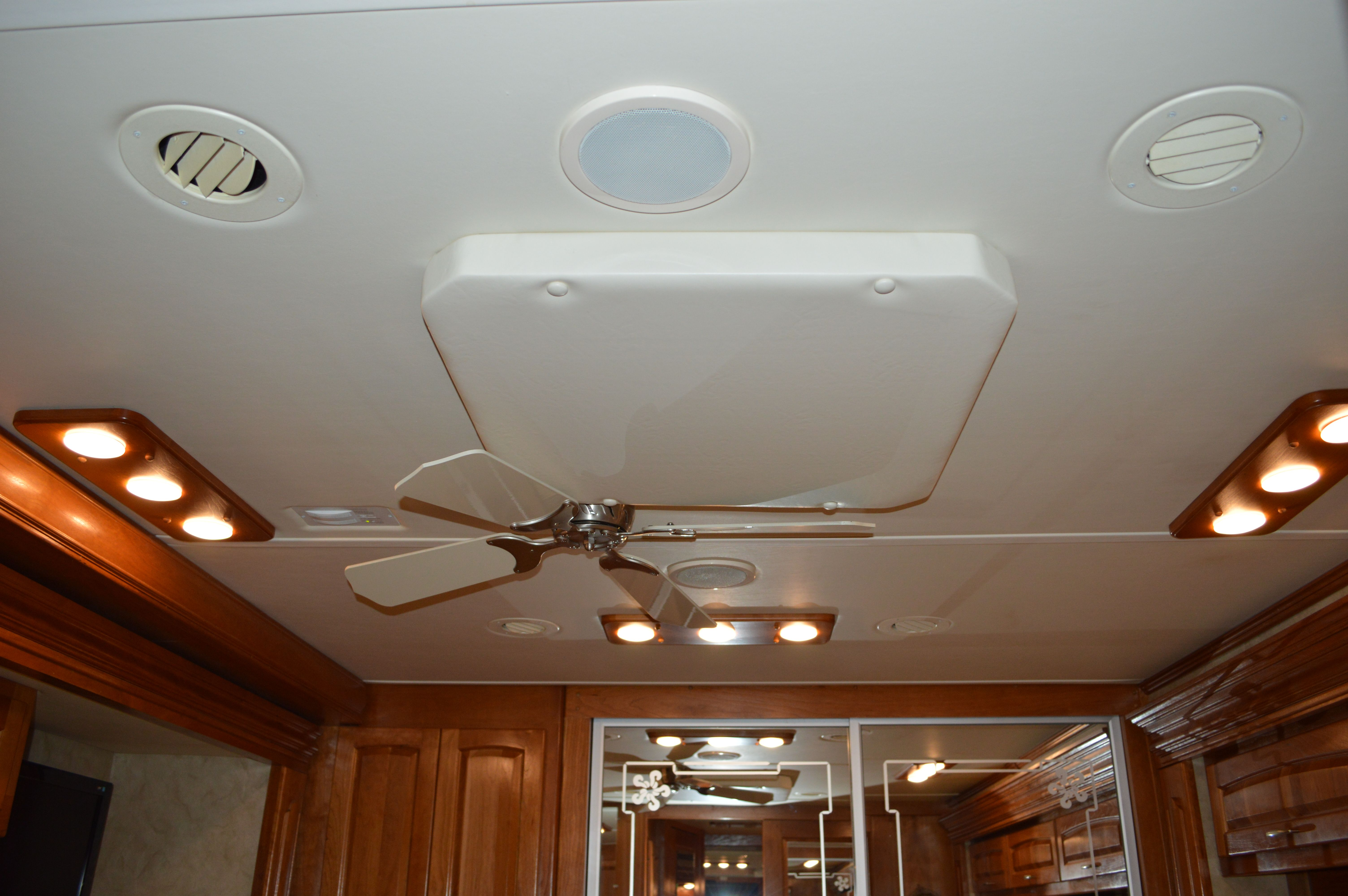 Custom AC cover with LED light boards | Custom RV Ceiling Upgrades on motorhome flooring, transport ceiling designs, kitchen ceiling designs, motorhome interior design, classic ceiling designs, commercial ceiling designs, motorhome murals, motorcoach ceiling designs, motorhome furniture, hotel ceiling designs, office ceiling designs, motorhome bathroom,